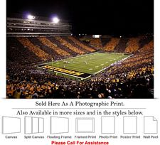 "University of Iowa Kinnick Stadium Football Game-2 Photo Print 24"" x 16"""