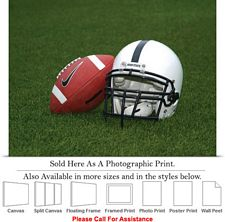 Penn State University Football and Helmet on Field Photo Print 24