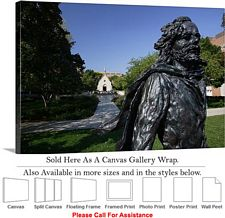 Marquette University Pere Jacques Marquette Statue Canvas Wrap 30