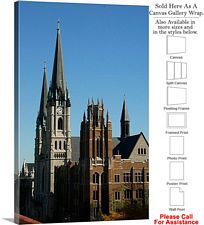 Marquette University Gesu Church Marquette Hall Canvas Wrap 20