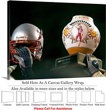 "University of New Mexico Holding High the NM Bowl Canvas Wrap 30"" x 22"""