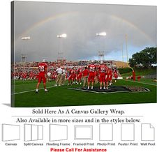 "University of New Mexico Rainbow Football Stadium Canvas Wrap 30"" x 20"""