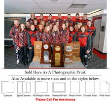 "University of New Mexico College Lobo Ski Team Photo Print 24"" x 16"""