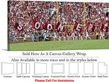 University of Oklahoma Sooner Flags Sport Panorama Canvas Wrap 36