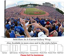 University of Kansas at Memorial Stadium Football Canvas Wrap 30