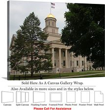 University of Iowa Old Capitol Building Campus Canvas Wrap 30