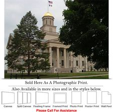 University of Iowa Old Capitol Building Campus Photo Print 24