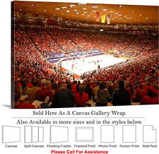 "University of New Mexico College Basketball Court Canvas Wrap 30"" x 20"""