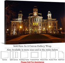 Syracuse University College at Hall of Languages Canvas Wrap 30