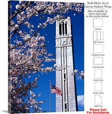 North Carolina State University Campus Bell Tower Canvas Wrap 20