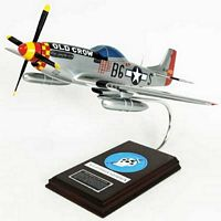 P-51D Mustang 'Old Crow' Military Aircraft Model