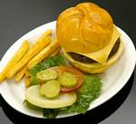 Fake Food Cheeseburger Plate