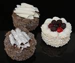 Fake Food set of 3 Small Gourmet Cakes