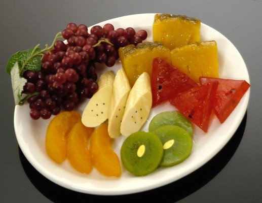 Fake food tropical fruit plate jr - Plaque decorative cuisine ...