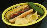 Fake Food Hot Dog On Basket