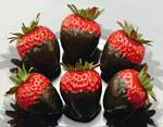 Fake Food Chocolate Covered Strawberry - pack of 6