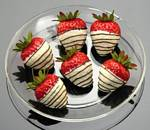 Fake Food White Chocolate Strawberries On Dish