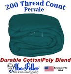 Three Quarter Hunter Green Duvet Cover Percale Cotton Poly Blend