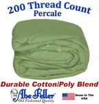 Three Quarter Sage Green Duvet Cover Percale Cotton Poly Blend