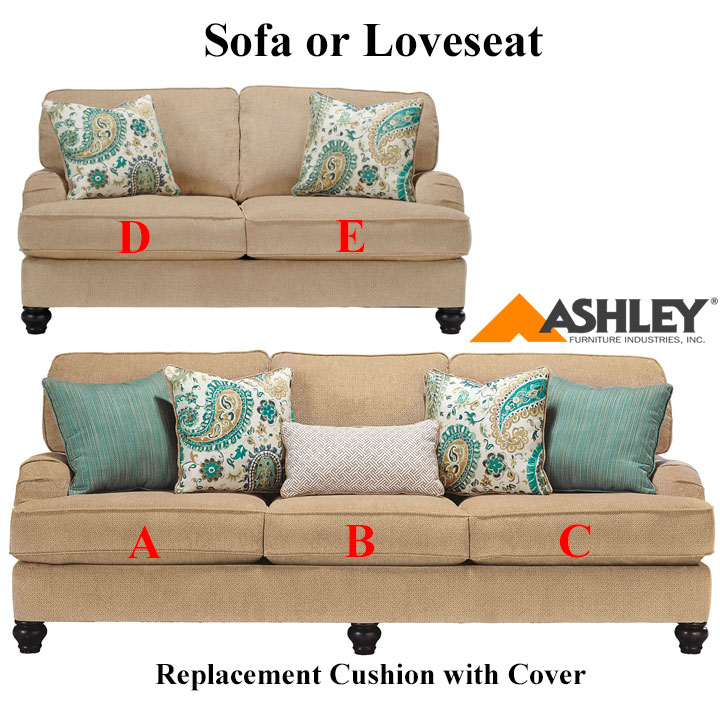 ashley lochian replacement cushion cover 5810038 sofa or 5810035 love. Black Bedroom Furniture Sets. Home Design Ideas