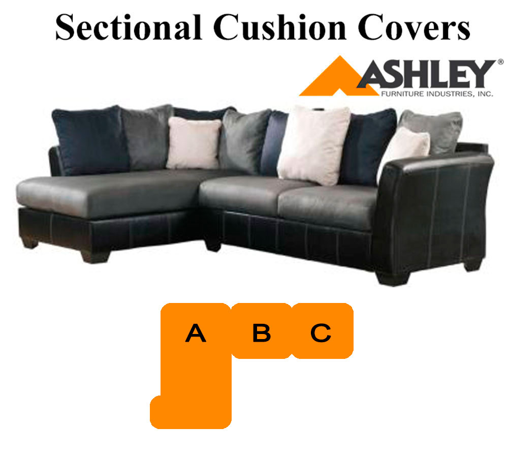 Ashley masoli cobblestone grey sectional replacement for Chaise cushion cover