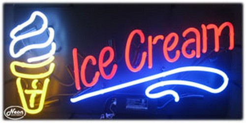 Ice Cream Neon Business Sign