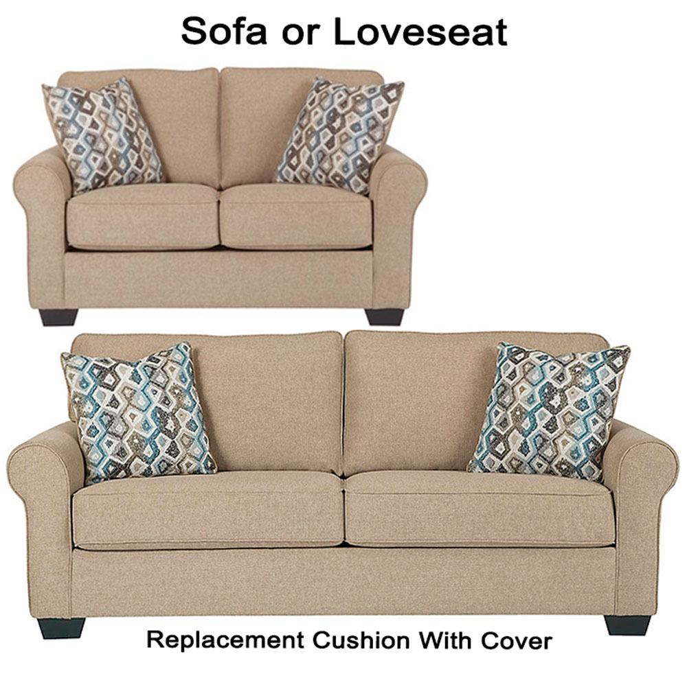 Slipcovers Ashley Furniture: Ashley® Nalini Replacement Cushion Cover, 6110238 Sofa Or