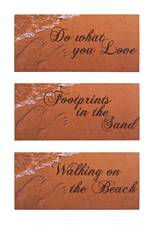 Sandy Feet Therapy Canvas Set of 3