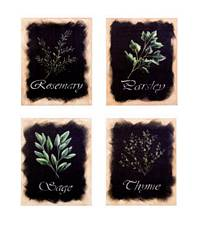 Herb Canvas Set of 4