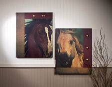 Horse Track Art Canvas Set of 2