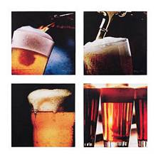 The Art of Beer Canvas Set of 4