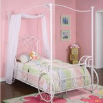 Princess Emily Carriage Canopy Size Bed by Powell Company