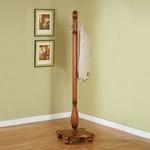 Woodland Oak / Antique Brass Coat Rack