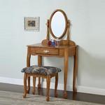 Nostalgic Oak Vanity, Mirror & Bench