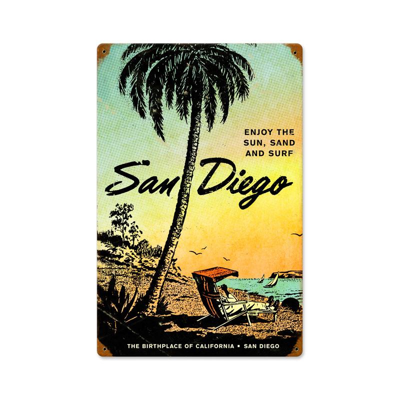 San Diego Vintage Metal Sign