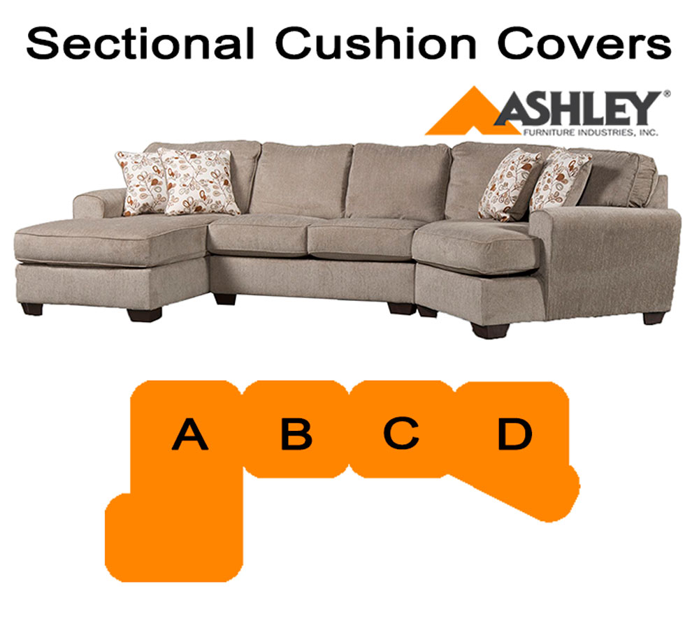 Ashley Patola Park Sectional replacement cushion and cover 12900