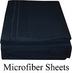 Black , Microfiber Sheets, Twin Size,  Deep Pocket