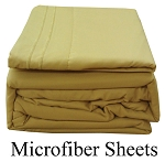 Camel Microfiber Sheets, Twin Size,  Deep Pocket