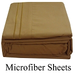 Mocha Microfiber Sheets, Twin Size,  Deep Pocket