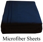 Navy Blue Microfiber Sheets, Twin Size,  Deep Pocket
