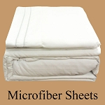 White Microfiber Sheets, Twin Size,  Deep Pocket