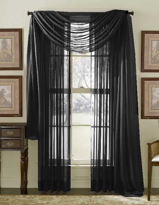 sheer curtain panel