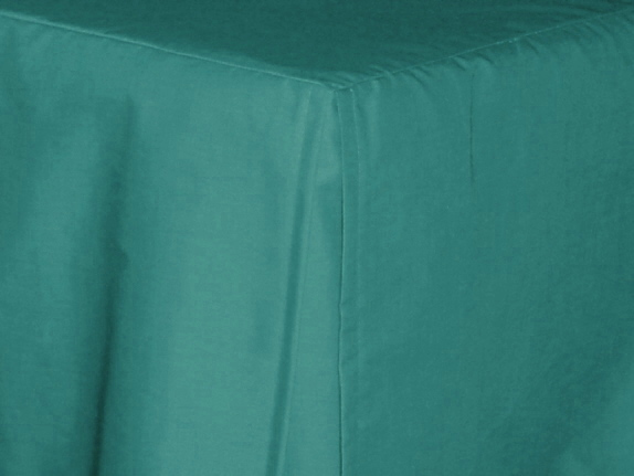 3 4 Three Quarter Teal Tailored Dustruffle Bedskirt