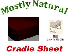 Cradle Sheet Fitted Burgundy Jersey Knit
