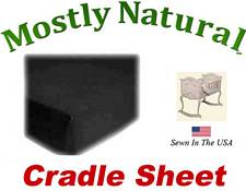Cradle Sheet Fitted Solid Black Jersey Knit