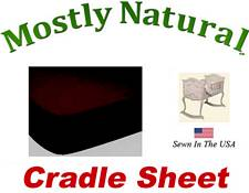 Cradle Sheet Fitted Solid Brown Jersey Knit