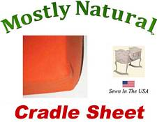 Cradle Sheet Fitted Deep Orange Jersey Knit