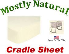 Cradle Sheet Fitted Solid Ivory Jersey Knit