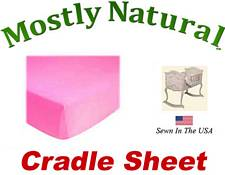 Cradle Sheet Fitted Hot Pink Jersey Knit