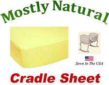 Cradle Sheet Fitted Solid Lemon Jersey Knit